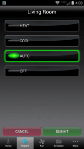 system mode select