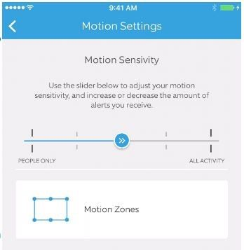 ring pro motion sensitivity settings