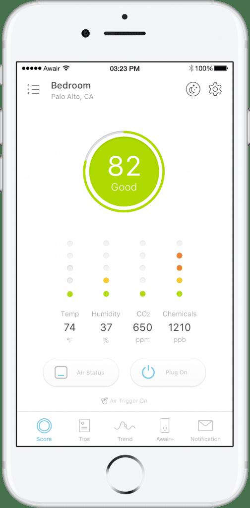 awair glow air quality tracking